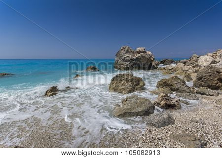 Megali Petra Beach, Lefkada, Ionian Islands