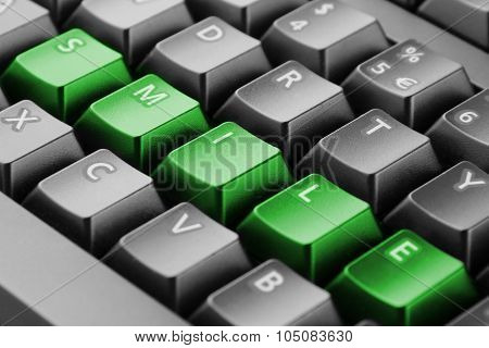 Word Smile Written With Keyboard Buttons
