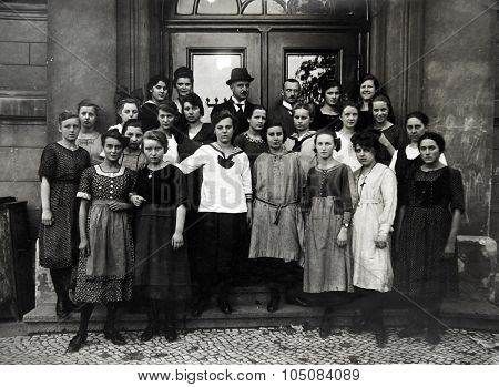 Antique Photo Of The Students