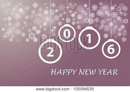 Happy new year in red color