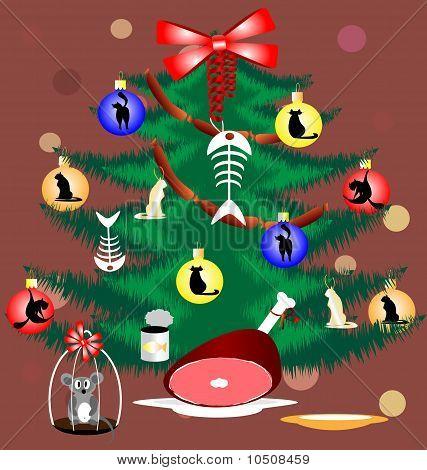 christmas tree for lovely cat