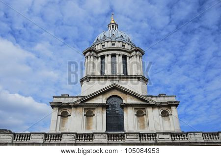 Greenwich Naval College dome from front