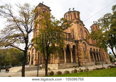Orthodox church St. Marks in the center of the city Belgrade, Serbia