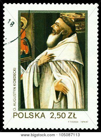 Vintage  Postage Stamp. Father Augustin Kordecki.