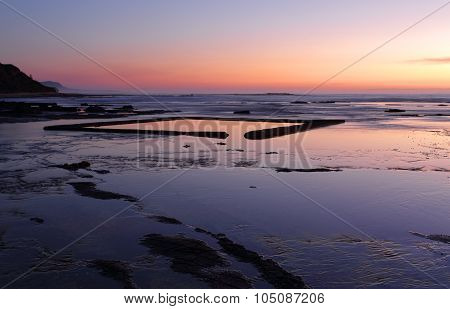 The Wading Pool On The Rockshelf At Sunrise