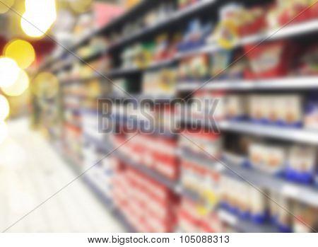 supermarket blured background