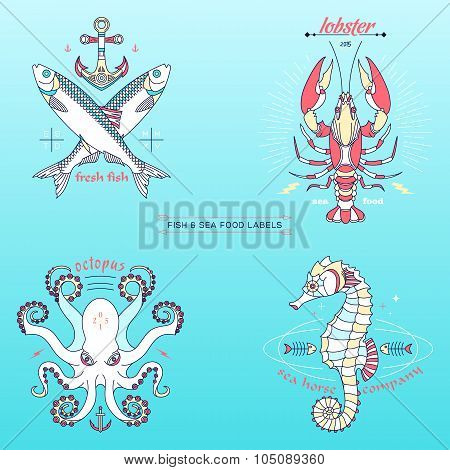 Fish Labels & Badges