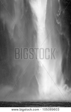Detail of 200 feets high Seljalandsfoss waterfall, south Iceland