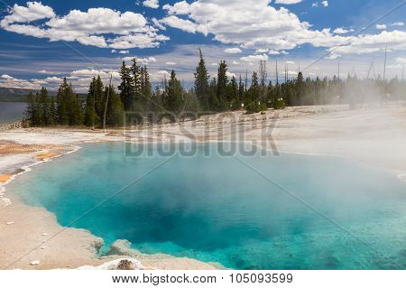 Black Pool At West Thumb Geyser Basin