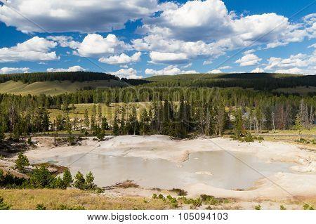 Mud Volcano At Yellowstone National Park