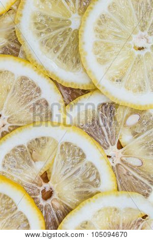 background made with slices of fresh lemon
