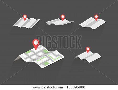 maps with destination symbols vector set