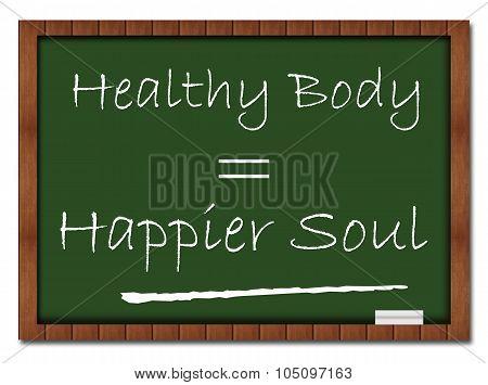 Healthy Body Happier Soul Classroom Board