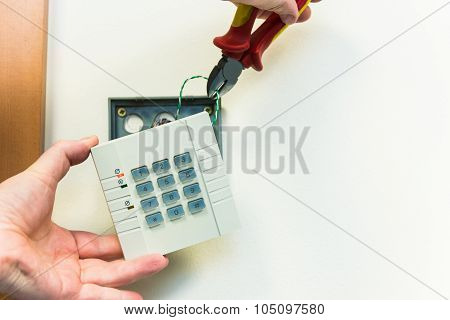 Man Crosses The Wires In The Numeric Panel