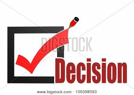Check Mark With Decision Word