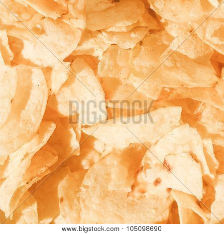 Retro Looking Potato Chips Crisps