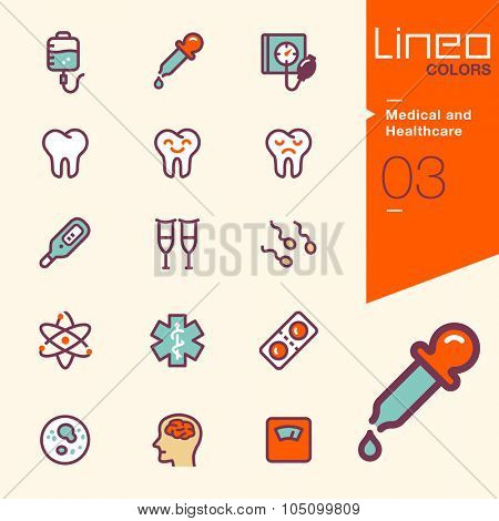 Lineo Colors - Medical and Healthcare icons