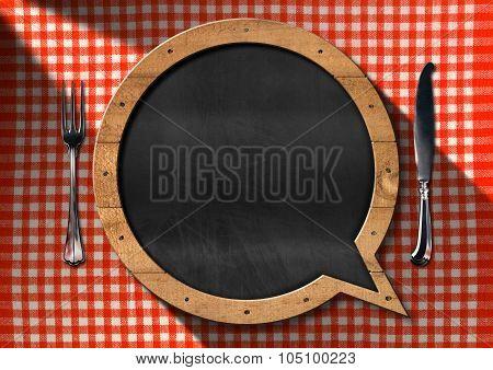 Empty Blackboard For A Restaurant Menu