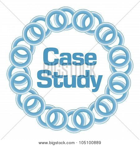 Case Study Text Inside Blue Rings Circular