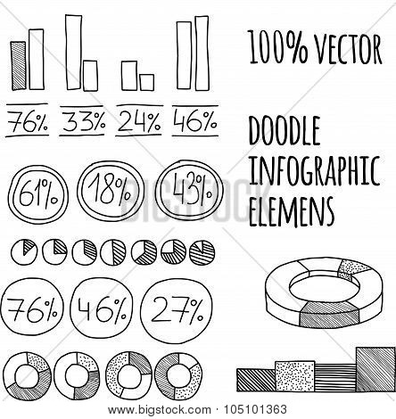Hand drawn infographics collection.
