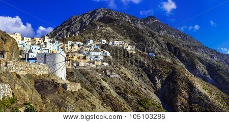 beautiful villages of Greece - imprssive Olimbos in Karpathos island