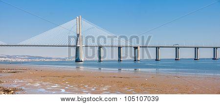 Vasco De Gama Bridge In Lisbon, Portugal