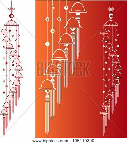 Wind Chimes. Design element