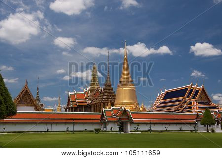 Wat Phra Kaew Temple In Bangkok - Thailand