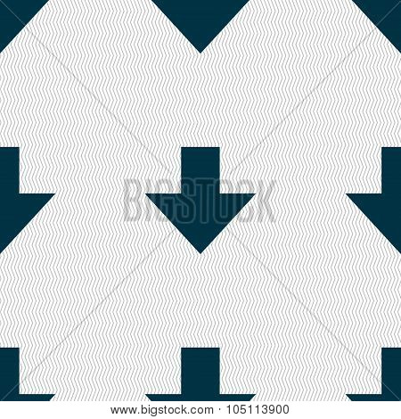 Download Sign. Downloading Flat Icon. Load Label. Seamless Abstract Background With Geometric Shapes