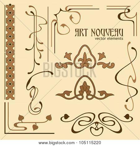 Set Of Art Nouveau Elements