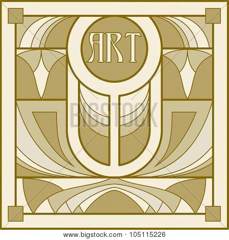 Art Nouveau Decorative Background