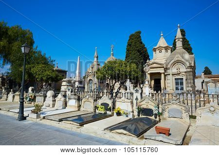 Valencia city municipal cemetery burial ground at Spain