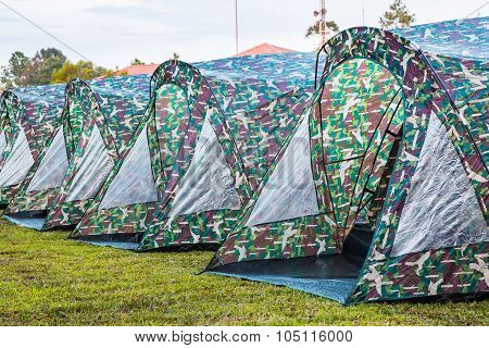 Dome Tents In A Row