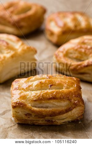 Sweet Puff Pastry On Paper