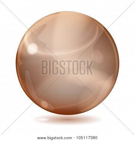 Big Brown Opaque Glass Sphere