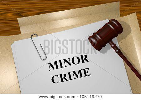 Minor Crime Concept