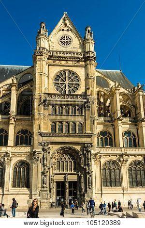 The Church Of Saint Eustache, Paris, France.