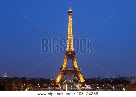 View Of The Paris And Tower Eiffel  On May 3, 2013 In Paris. The Eiffel Tower Is The Most Visited Mo