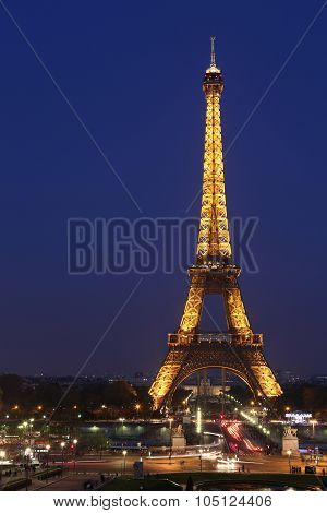 View Of The Paris And Tower Eiffel. The Eiffel Tower Is The Most Visited Monument Of France With Abo