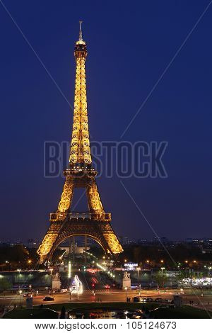 Paris - May 3 : View Of The Paris And Tower Eiffel  On May 3, 2013 In Paris. The Eiffel Tower Is The