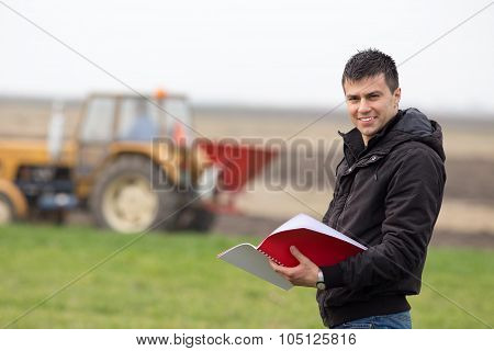 Satisfied Farmer In The Field