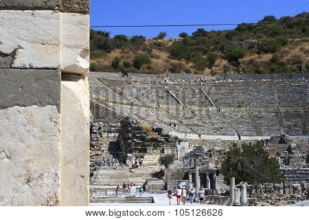 Ephesus Is An Ancient City And Its Theatre Is One Of The Biggest In The World.
