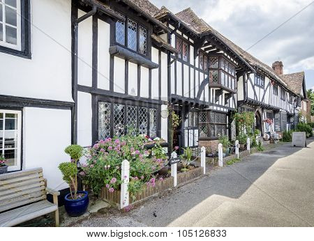 Tudor Cottages In The Village Of Chilham