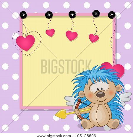 Cupid Hedgehog With Frame