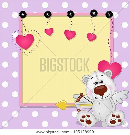 Cupid Polar Bear With Frame