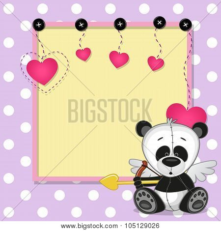 Cupid Panda With Frame