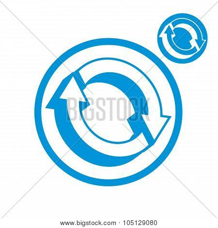Reload Refresh Arrows Loop Vector Simple Single Color Icon Isolated On White Background, Includes In