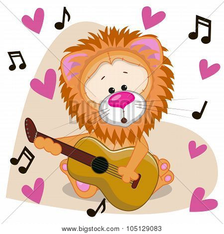 Lion With Guitar