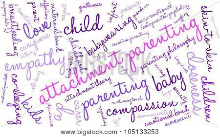 Attachment Parenting Word Cloud