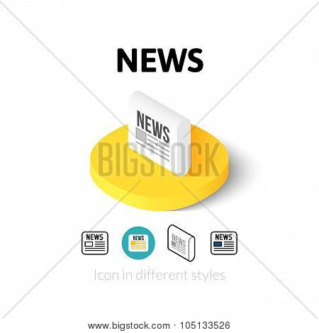 News icon in different style